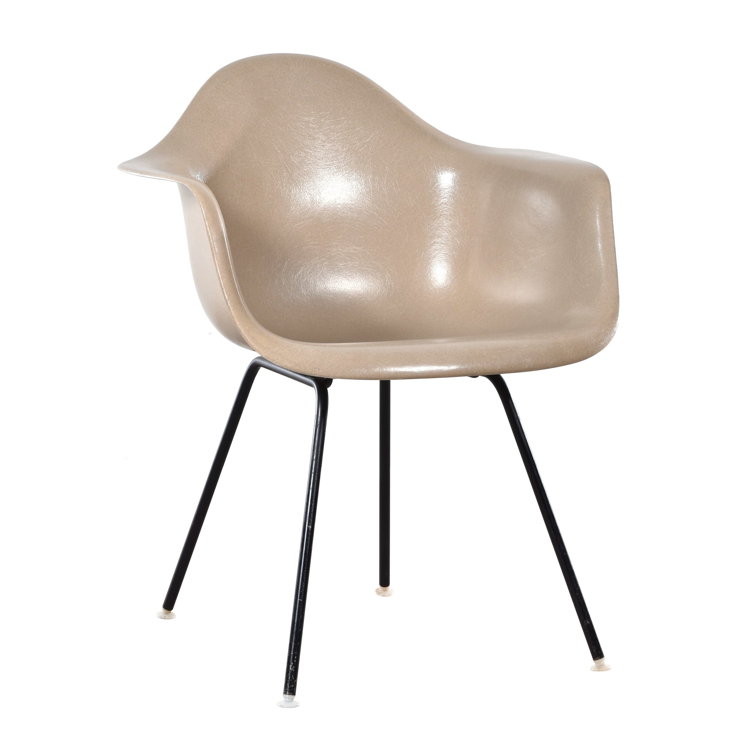 Charles & Ray Eames Sessel Dax Greige Arm Chair By Charles Ray Eames For Herman Miller 1960s