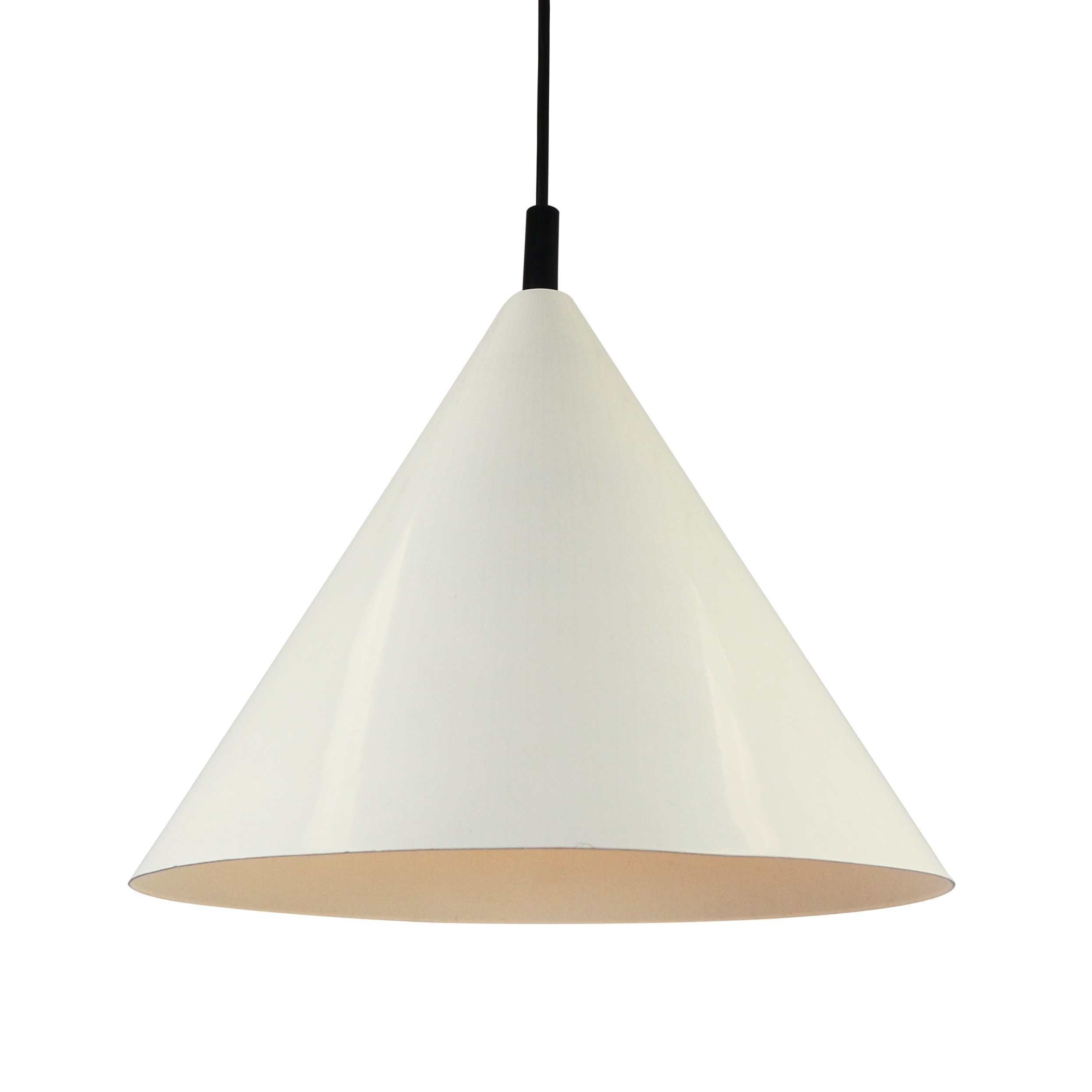 Cone Shaped Pendant Light White Philips Nps 86 Cone Pendant Light From The Sixties