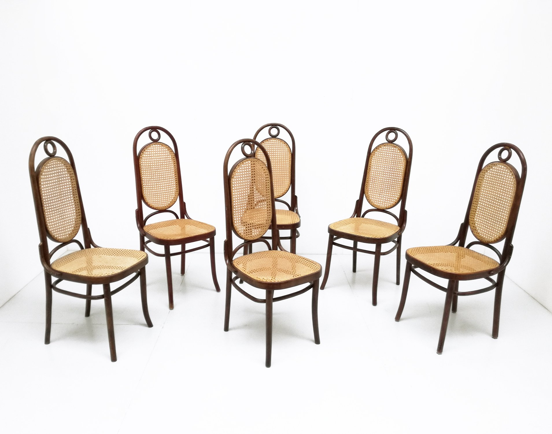 Thonet Michael Set Of 6 N 17 Dinner Chairs By Michael Thonet For Thonet