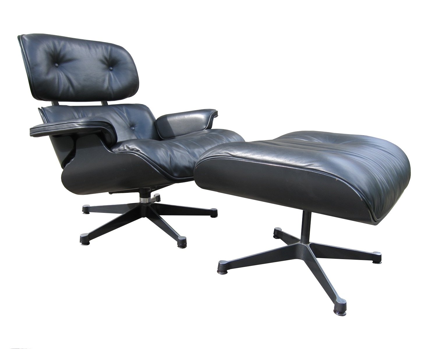 Vitra Eames Lounge Chair Black Eames Lounge Chair Ottoman Black On Black Herman Miller By Vitra