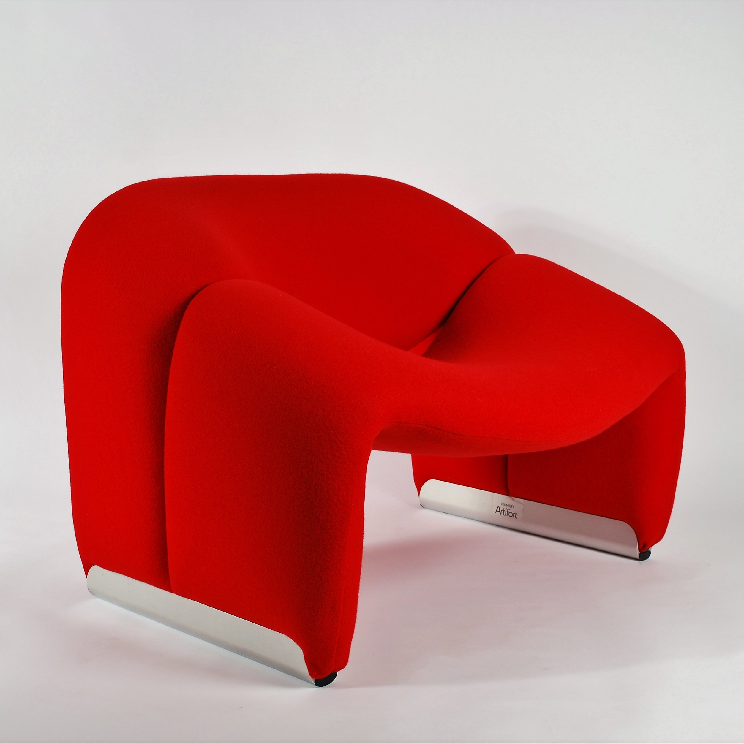 Pierre Paulin Sofa Artifort Red Groovy Chair F598 M Chair By Pierre Paulin