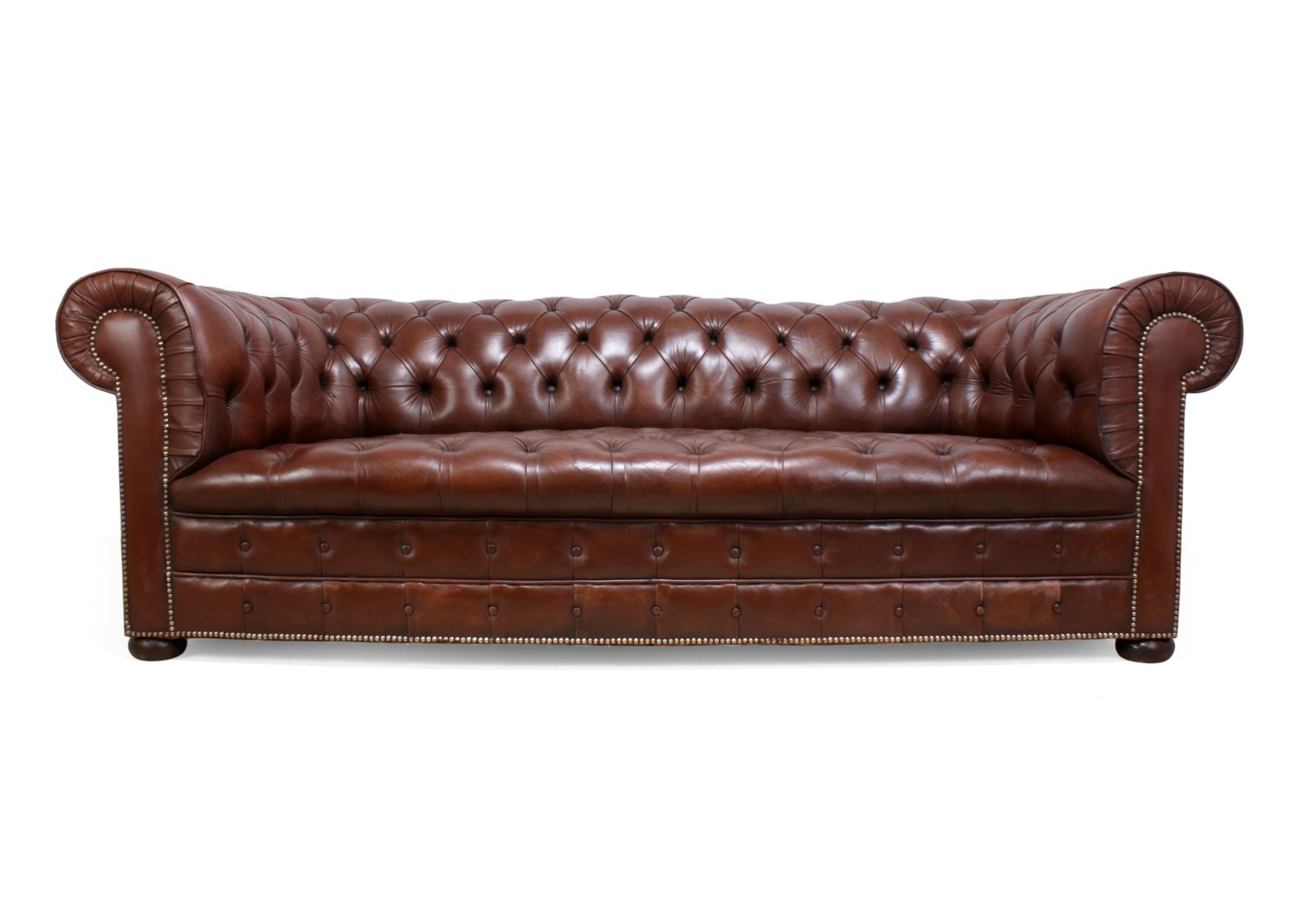Chesterfield Vintage Sofa Vintage Brown Leather Chesterfield Sofa 1960s 74829