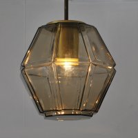 Lantern hanging lamp by Glashtte Limburg, 1960s | #75945
