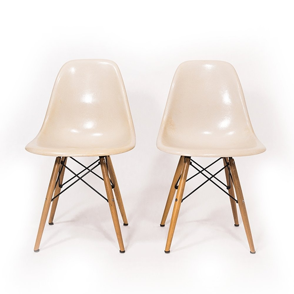 Vitra Chair Eames Parchment Dsw Chair By Ray Charles Eames For Vitra