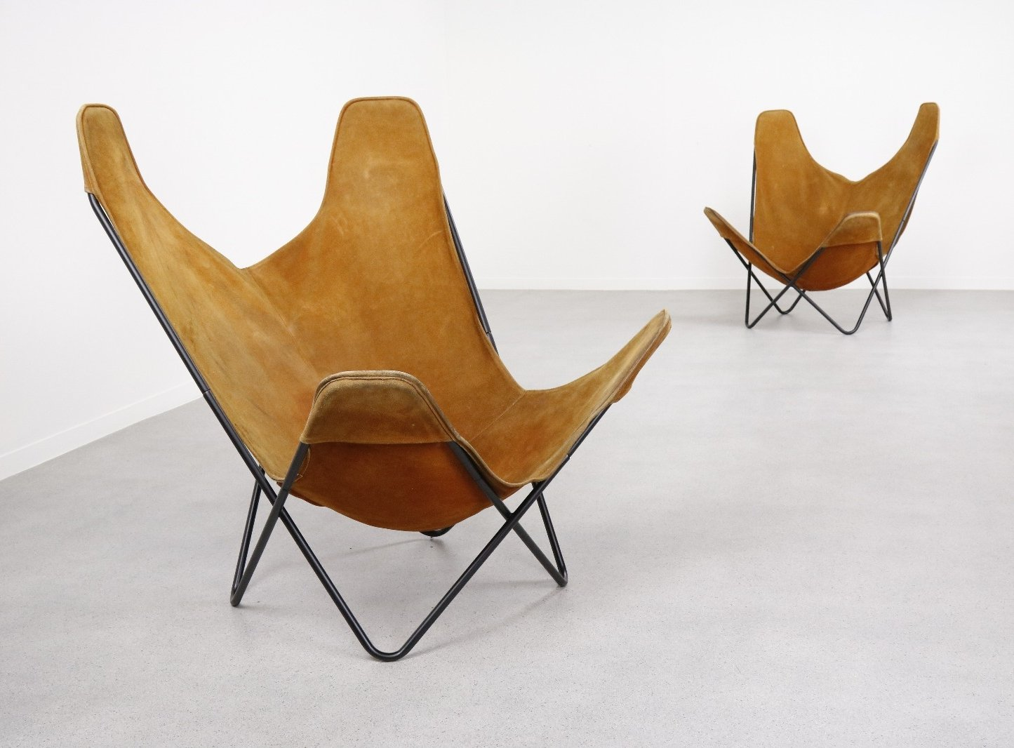 Butterfly Chair Knoll 2 X Butterfly Lounge Chair By Jorge Ferrari Hardoy For Knoll