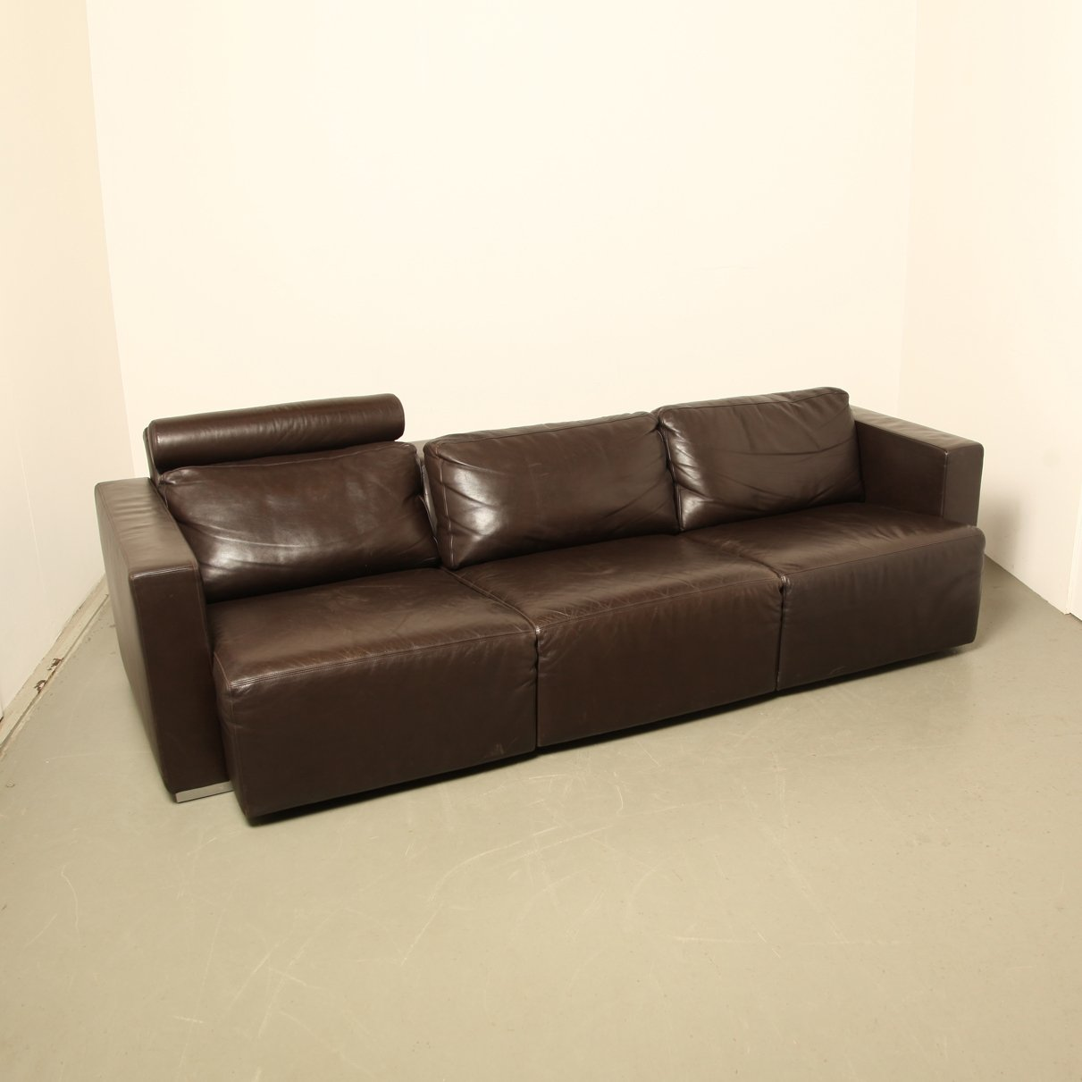 Walter Knoll Sofa Walter Knoll Sectional Brown Leather Sofa