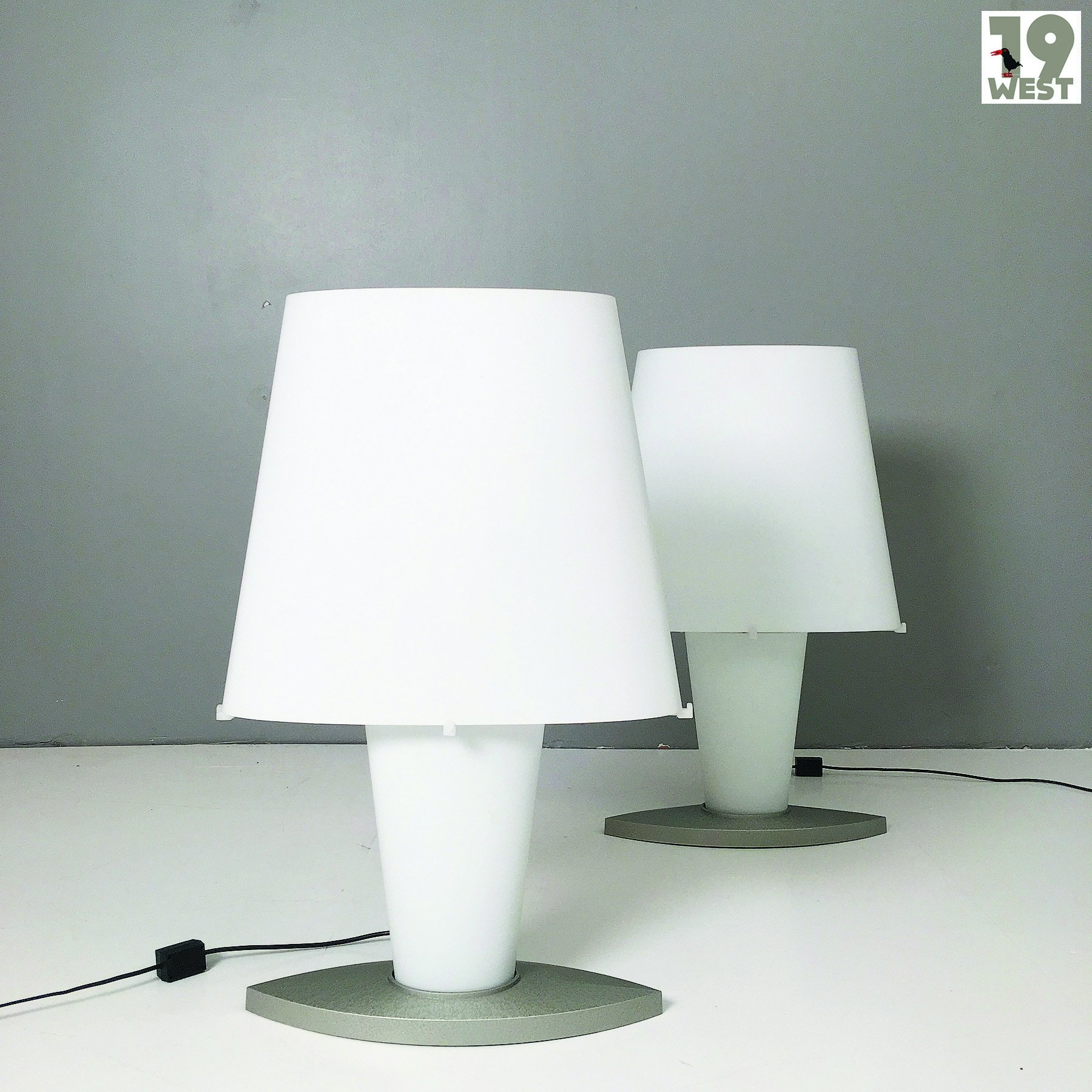 Fontana Arte Two Large 1990 S Table Lamps By Daniela Puppa For Fontana Arte