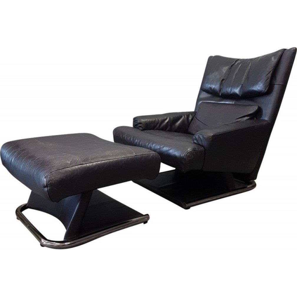 Vitra Lounge Chair Tweedehands Rolf Benz Leather Lounge Chair With Ottoman 81448