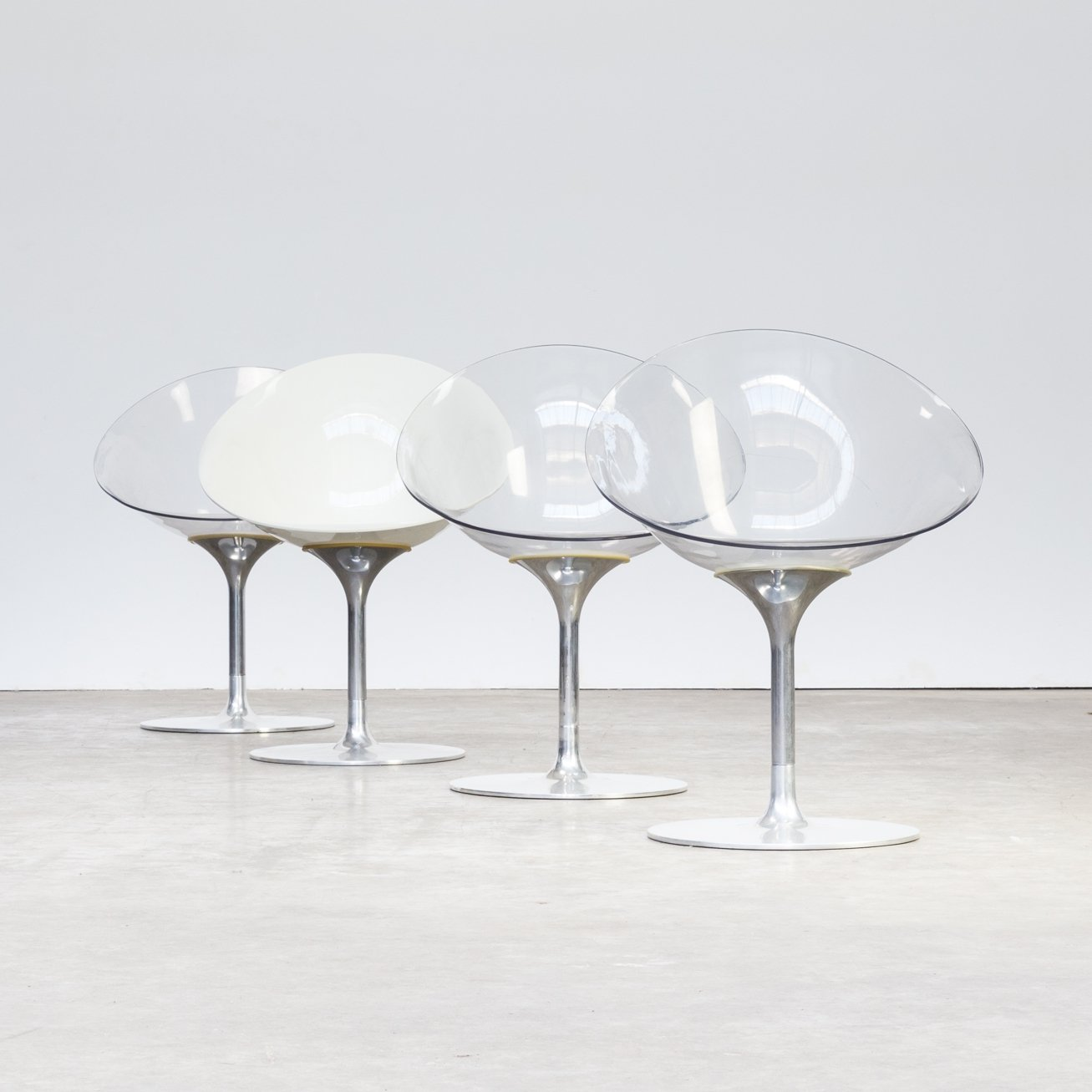Philip Starck Set Of 4 Philippe Starck Ero S Chairs For Kartell 1970s