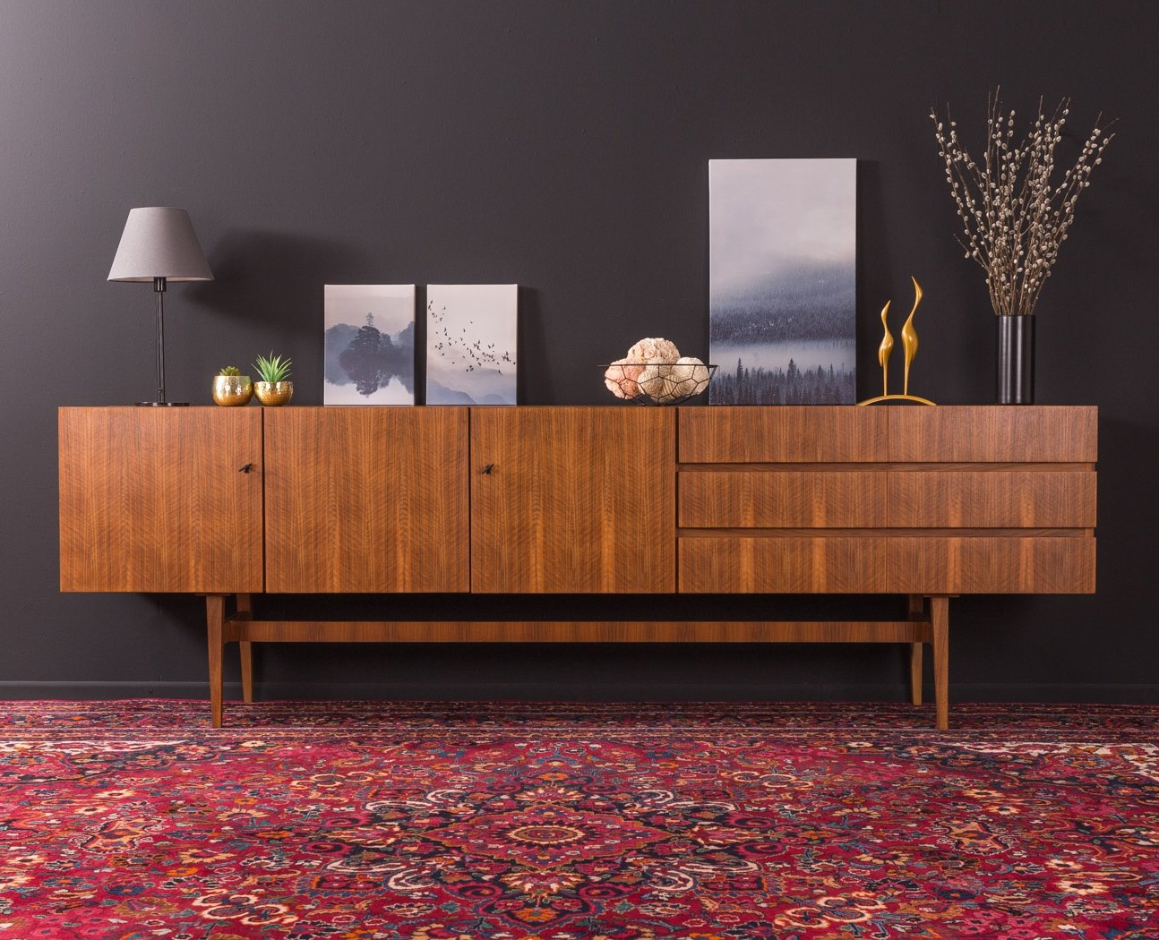 Walnut Sideboard By Musterring Germany 1960s 109432