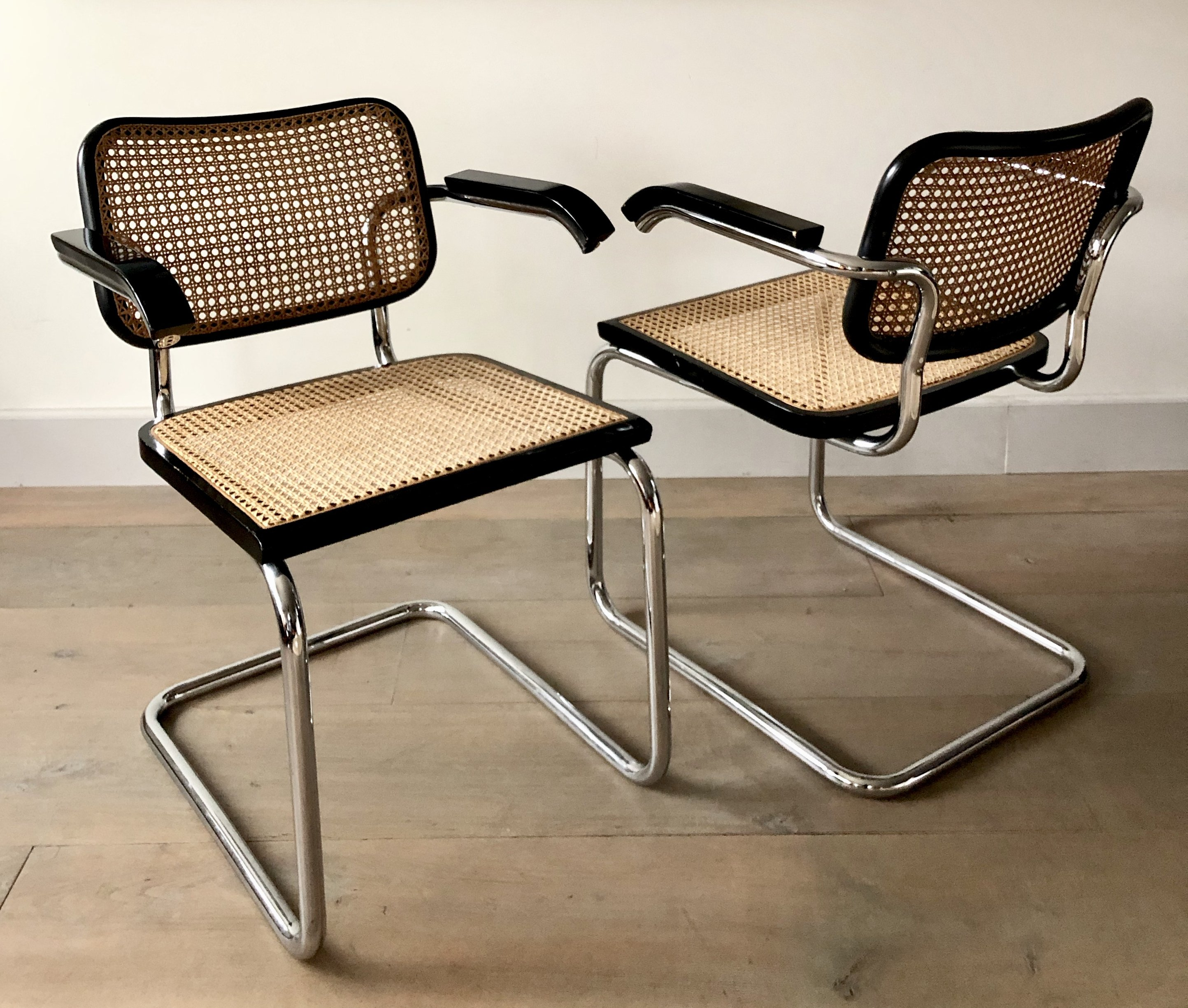 Marcel Breuer Rare Set Of 2 Marcel Breuer B64 Chairs By Gavina, Italy 1962 | #133717