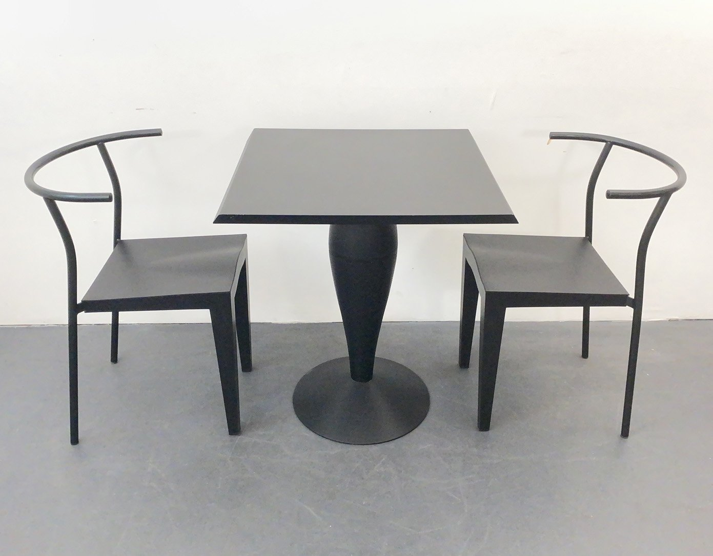 2 Chairs Table By Philippe Starck For Kartell Italy 1980s 136613
