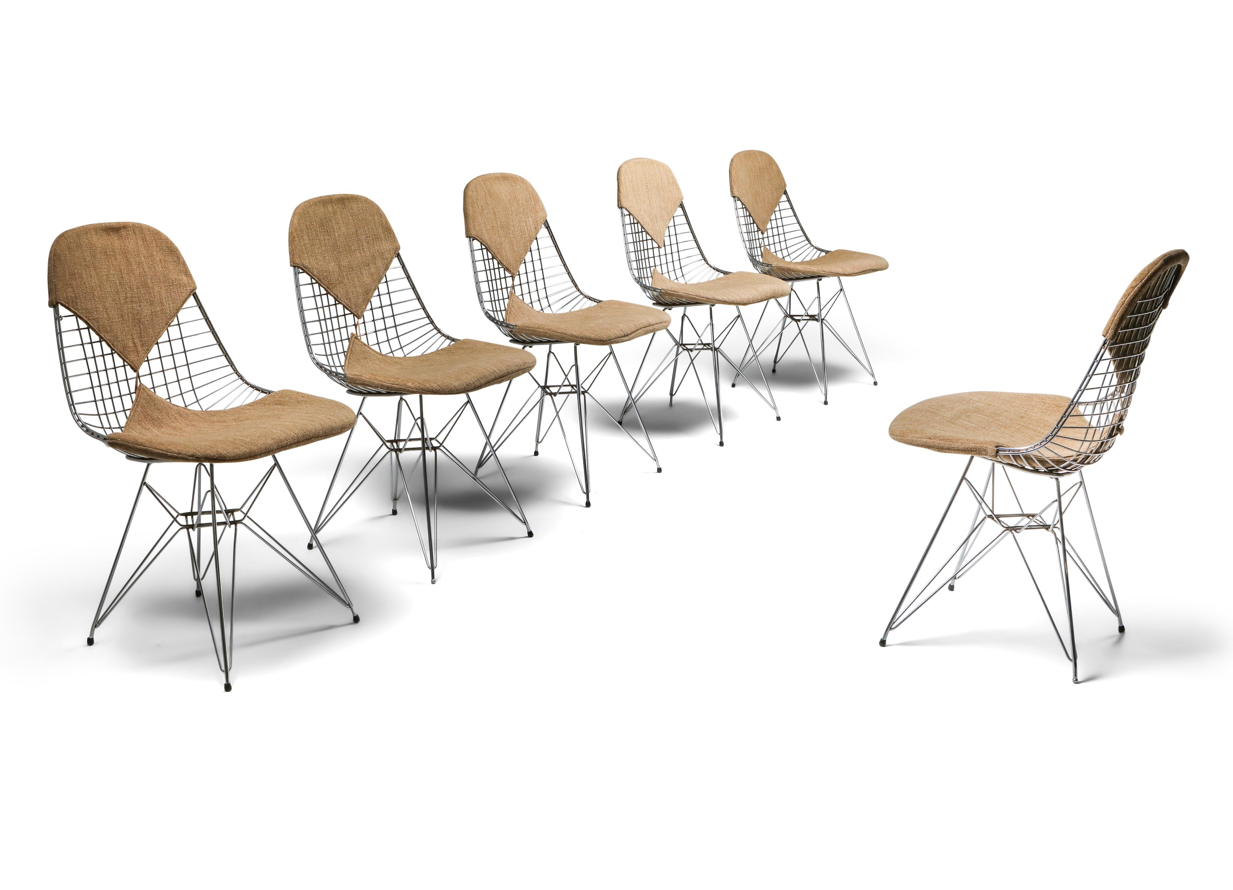 Chair Eames Eames Bikini Dkr Wire Chair In Original Canvas, 1960's | #142478