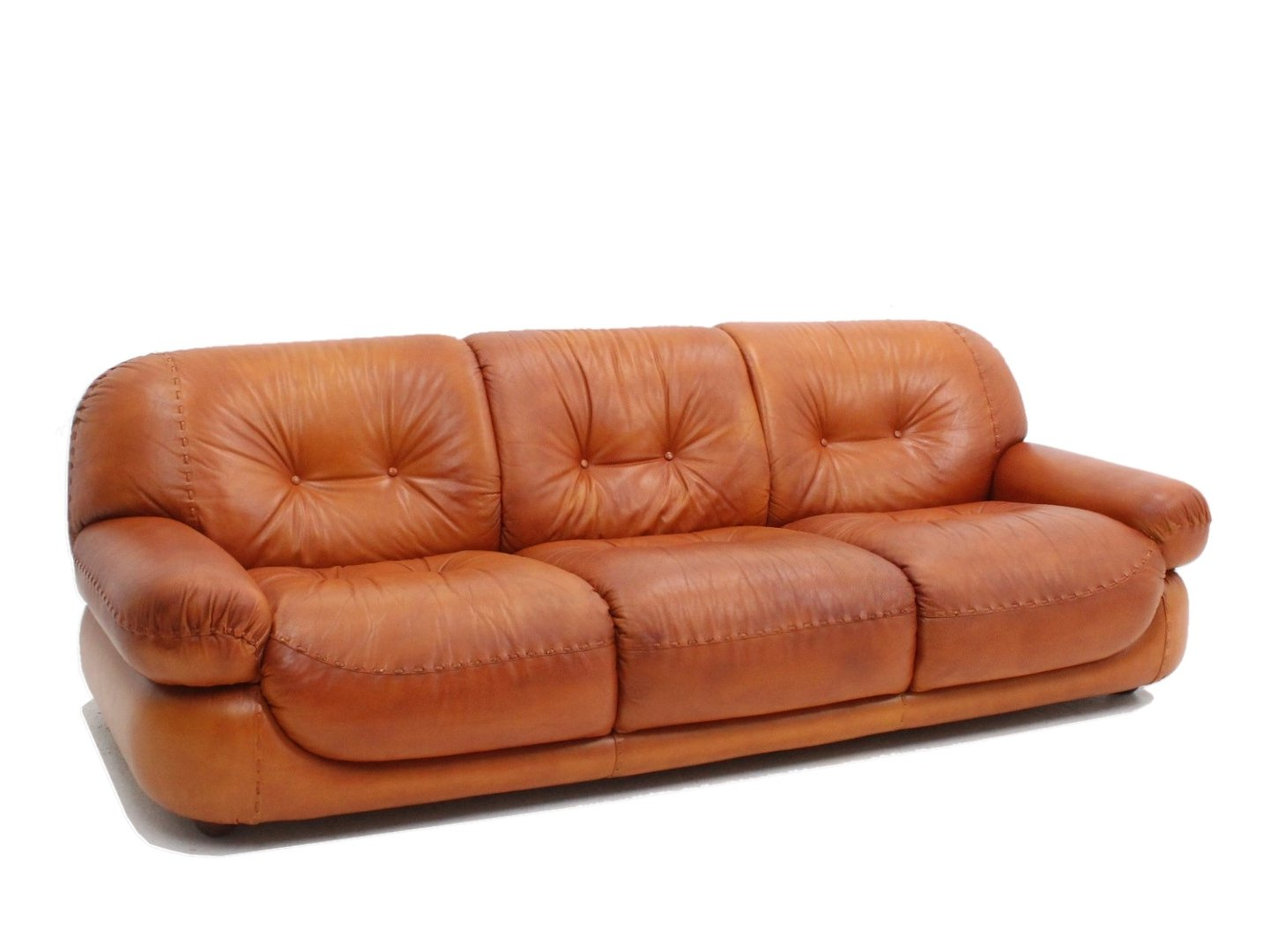 Italian Vintage Leather Sofa By Mobil Girgi 1970s 152522
