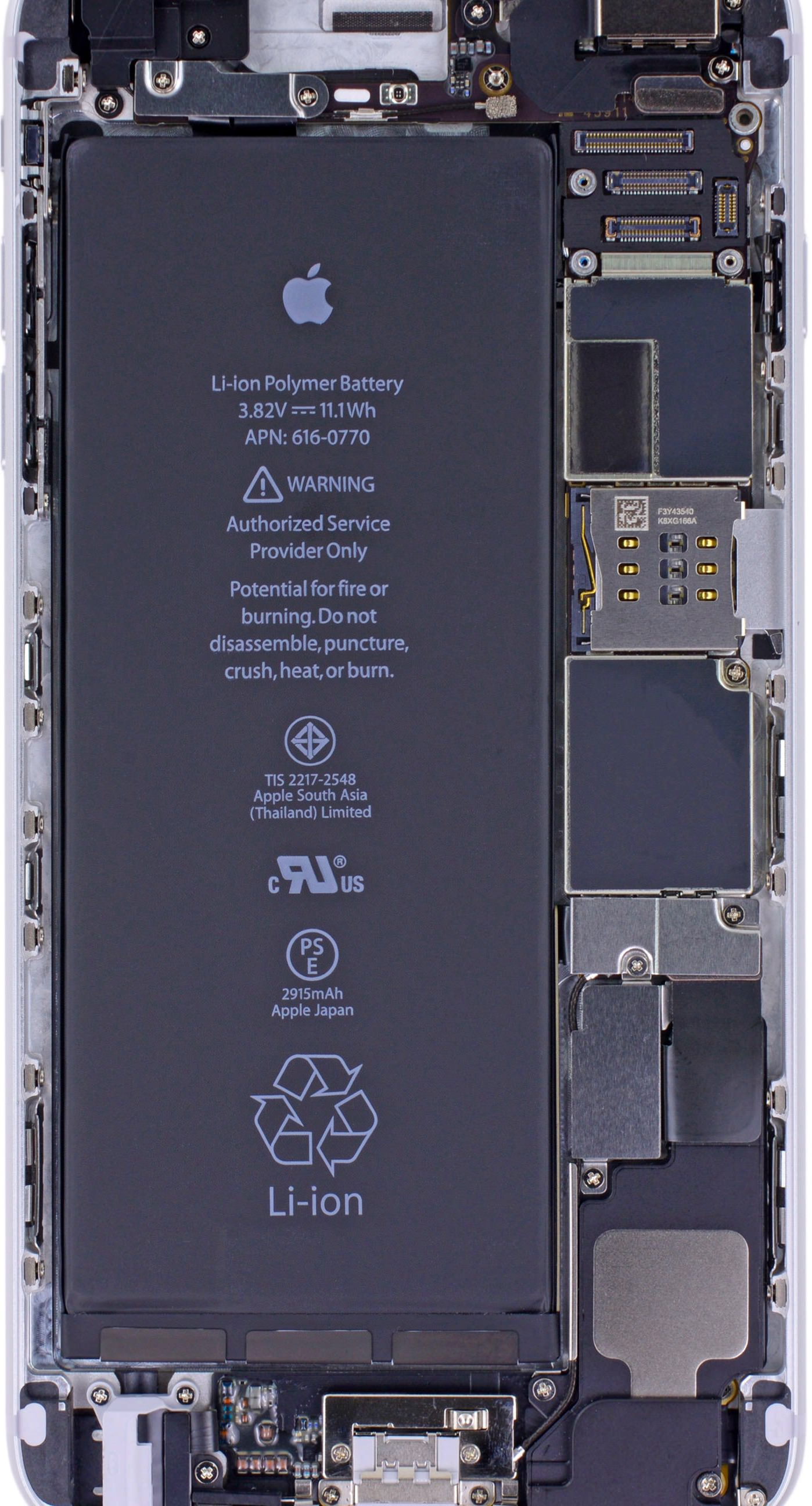 Iphone 8 Plus Internals Wallpaper クールiphone6plus基板 Wallpaper Sc Iphone6splus壁紙