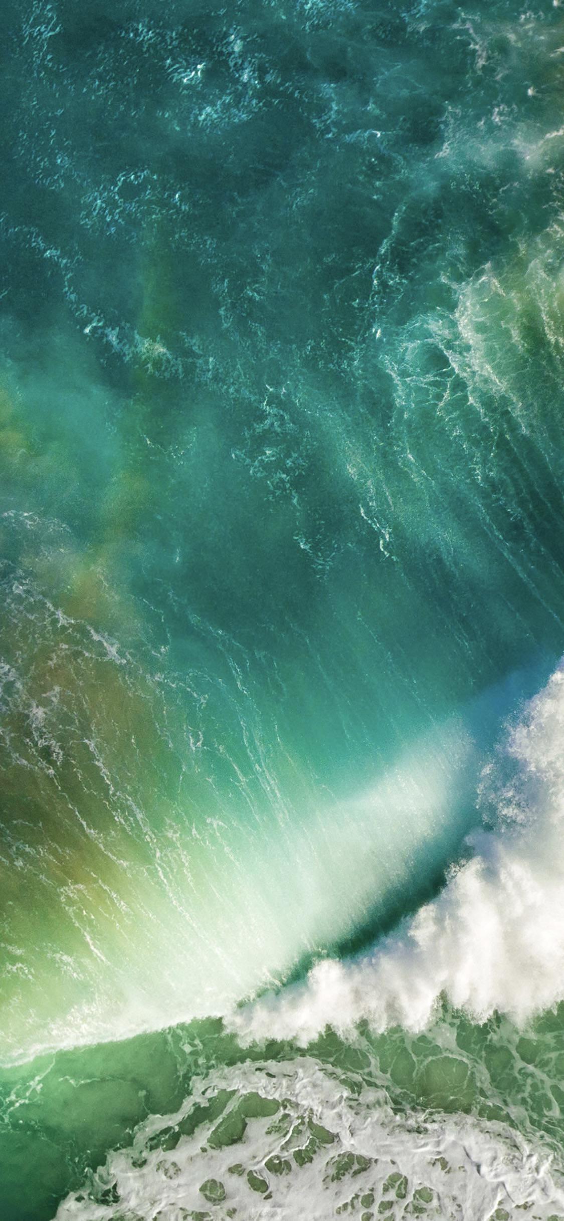 Iphone Wave Wallpaper Ios10 Sea Wave Blue Wallpaper Sc Iphonex