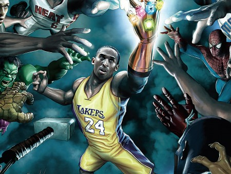 Barbie Hd Wallpapers Free Download Kobe Bryant With Infinity Gauntlet Fan Art Wallpapers
