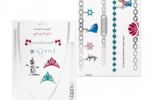 Disney Frozen 2 Sheets Metallic Jewelry Tattoos
