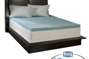 Simmons Curv™ 3″ Flat Gel Memory Foam Mattress Topper