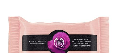 The Body Shop British Rose Exfoliating Soap, 3.5 Ounce (Pack of 12)
