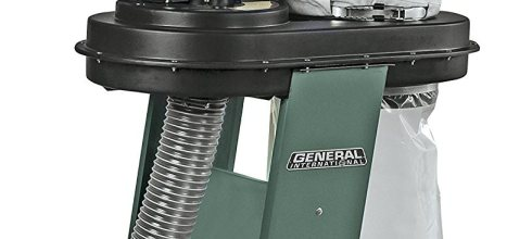 General International 10-055 M1 Power Products 1 HP Dust Collector with 2 Micron Filter Bags, Green
