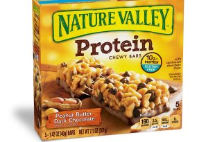 Nature Valley Chewy Granola Bar, Protein, Peanut Butter Dark Chocolate, 5 Bars – 1.4 oz (Pack of 6)