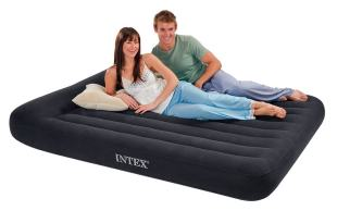 Intex Pillow Rest Classic Airbed with Built-in Pillow and Electric Pump