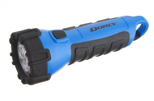 Dorcy 41-2510 Floating Waterproof LED Flashlight with Carabineer Clip, 55-Lumens, Blue