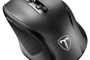 VicTsing MM057 2.4G Wireless Portable Mobile Mouse Optical Mice with USB Receiver, 5 Adjustable DPI Levels, 6 Buttons for Notebook, PC, Laptop, Computer, Macbook – Black