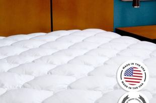 Mattress Pad with Fitted Skirt – Extra Plush Mattress Topper Found in Five Star Hotels, Twin XL