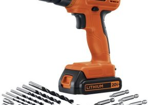 save 43% on select BLACK+DECKER drill kit