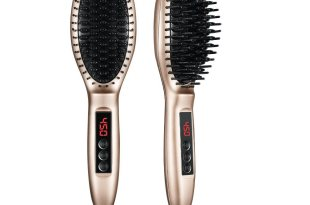 ElleSye Hair Straightening Brush, Thermo Hair Straightener Brush, Professional Straightening Comb