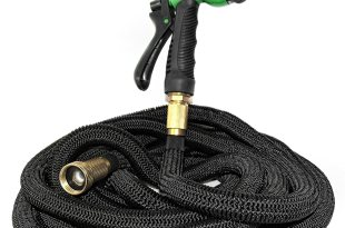 Expandable Hose (50ft) by MrLifeHack – Kink Free Expanding Garden Water Hose – Leak Proof, Lightweight & Durable – Solid Brass Connectors – Includes BONUS 8 Pattern Nozzle Sprayer & Storage Bag