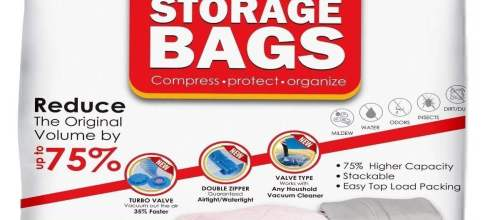 Vacuum Storage Bags - Pack of 8 - 4 Large (40x31) + 4 Medium (31x25) ReUsable space saver with free Hand Pump for travel packing - Best Seal Bags for Clothes, Comforters, Pillows, Curtains, Blankets
