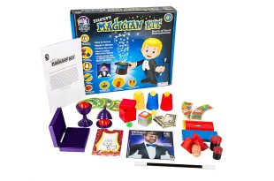 Starter Magic Tricks Set for Kids – 12 Exciting Magician Items, Instruction DVD – Magic Kit Gift Set