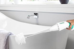 Finether Electric Toilet Brush Cordless Power Scrubber Cleaner with Rechargeable Battery and 2 Brushes