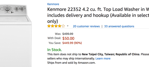 Amazon has Kenmore Washer Dryer Appliances at Major Price Drops