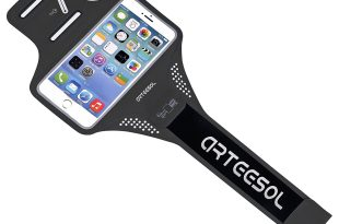 Waterproof Running Armband, ARTEESOL Cell Phone Holder 4″-5.8″ with Fingerprint Touch for iPhone X/8/7/6/Plus/5, Galaxy S8, LG, Moto, Phone Pouch Screen Protector for Workout Fitness [Black]