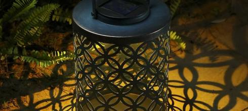 LED Solar Lantern, Tomshine Hanging Outdoor Backyard Light