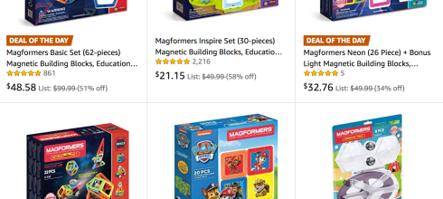 For a limited time, save on select magnetic Magformers