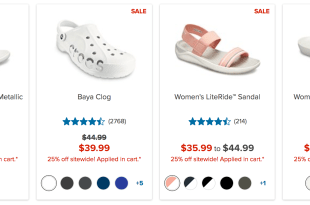 Crocs' 25% Off  INDEPENDENCE DAY SALE
