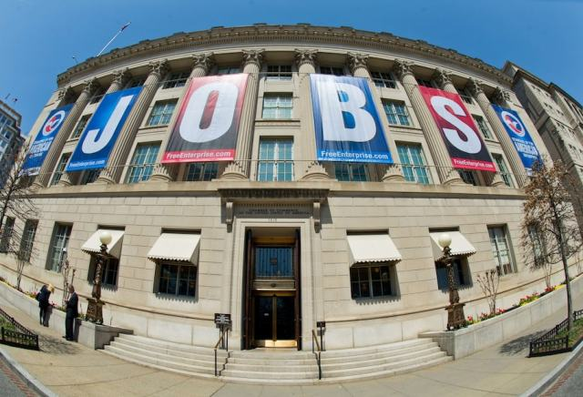 What that bad jobs report really means (FILES) File photo dated April 9, 2013 shows a jobs sign on the front of the US Chamber of Commerce building in Washington, DC. The US economy generated 209,000 new jobs in July, down from June but maintaining a solid 200,000-plus monthly streak since February, the Commerce Department said August 1, 2014. The unemployment rate, rose a mere 0.1 point to 6.2 percent, still near its lowest level since October 2008 and well down from the 7.9 percent at the start of 2013. The new jobs were well-spread between the construction, manufacturing, professional service and retail sectors, and got a boost as well from 11,000 new jobs in the government sector. AFP PHOTO / Karen BLEIER / FILESKAREN BLEIER/AFP/Getty Images