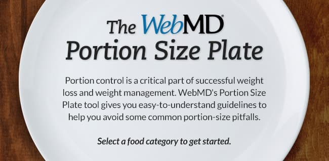 Portion Size Plate Recommended Serving Sizes For Portion
