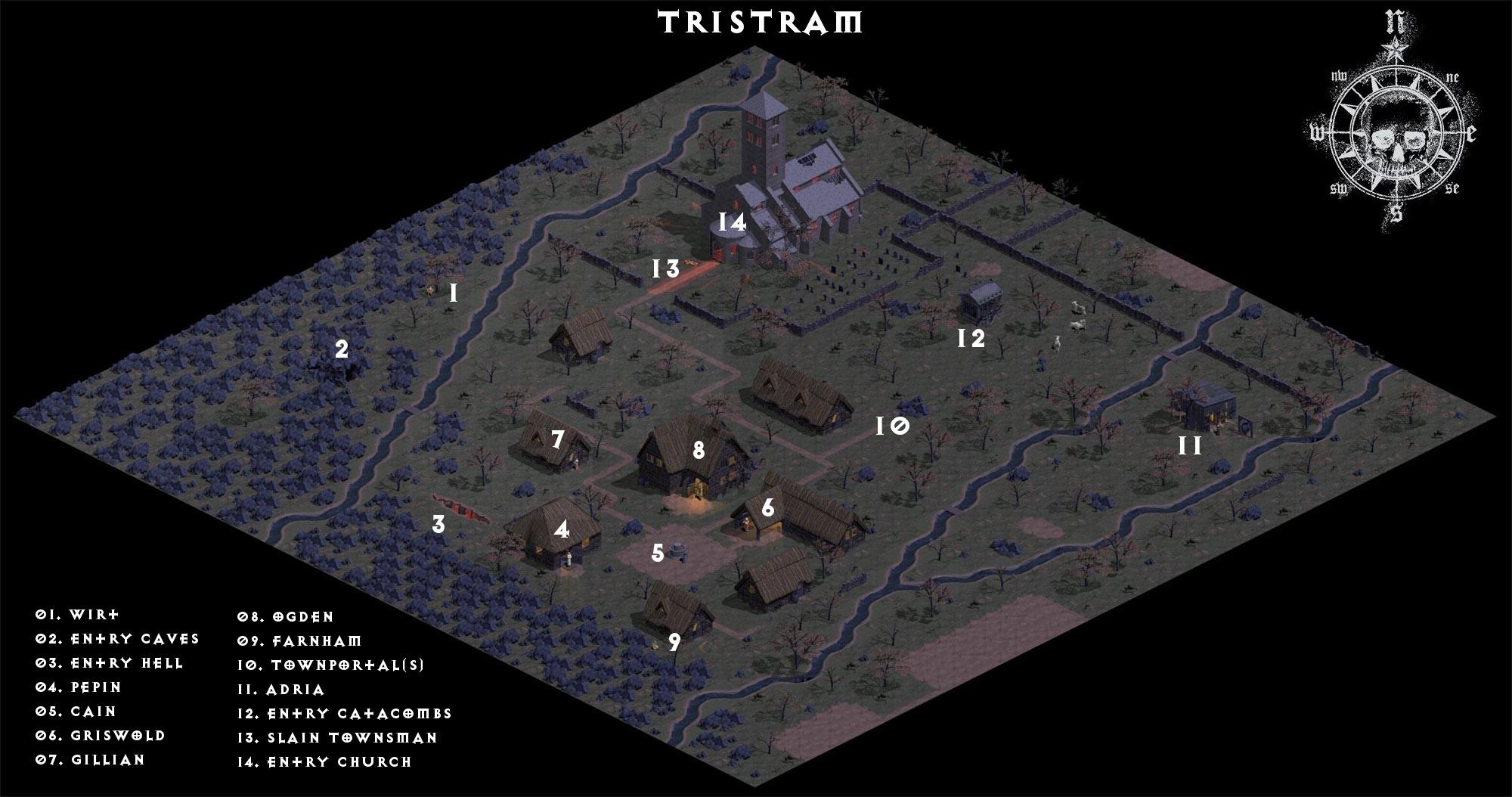 Diablo Wallpaper Hd Tristram Map