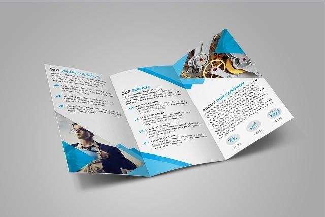 60+ Free  Premium PSD Brochure Templates - Webprecis - Tri Fold Brochures Free