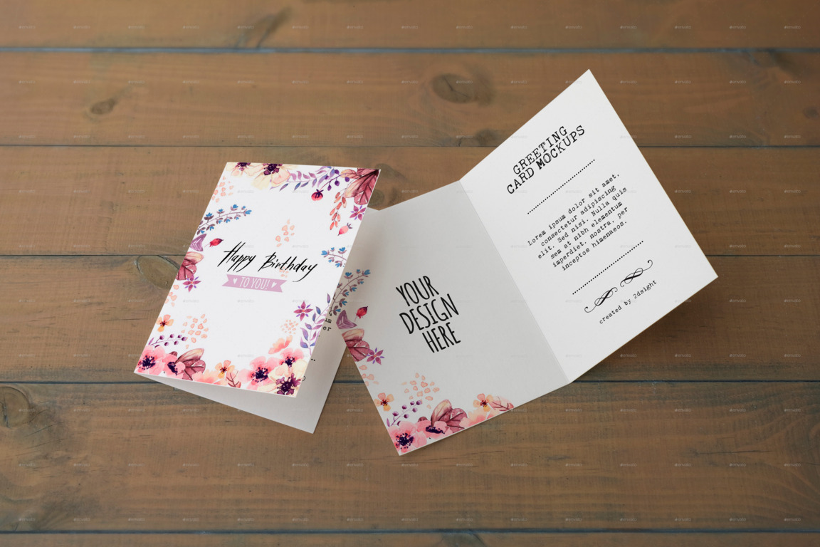 A5 Invitation Mockup Psd 20 Psd Invitation / Greeting Card Mockups - Webprecis