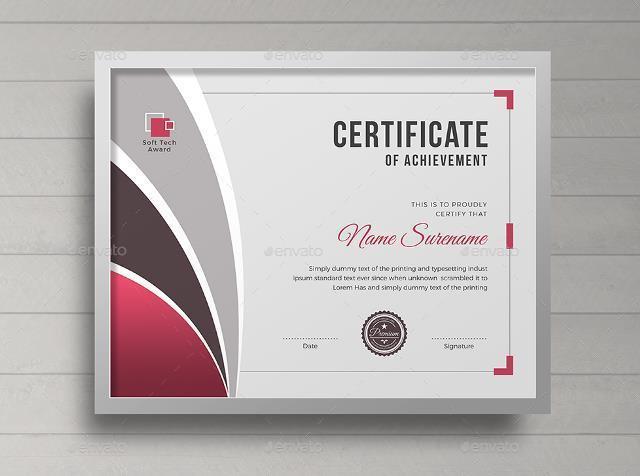 20+ Free and Premium PSD Certificate Templates - Webprecis