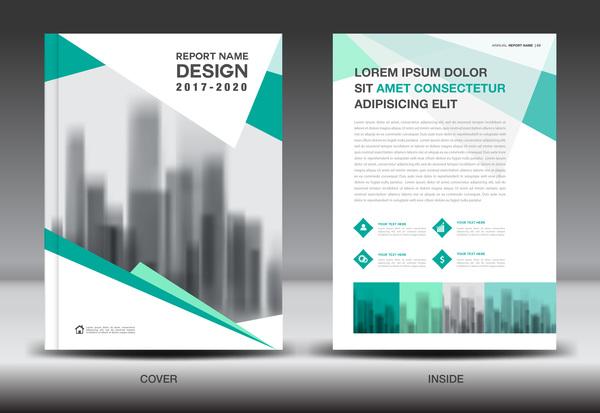 Annual report brochure green cover template vector 01 - WeLoveSoLo