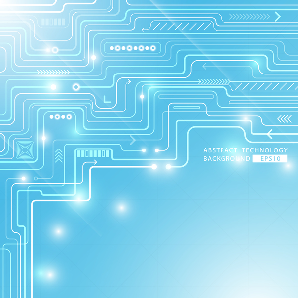 Blue abstract circuit technology background vector design - WeLoveSoLo - circuit design background