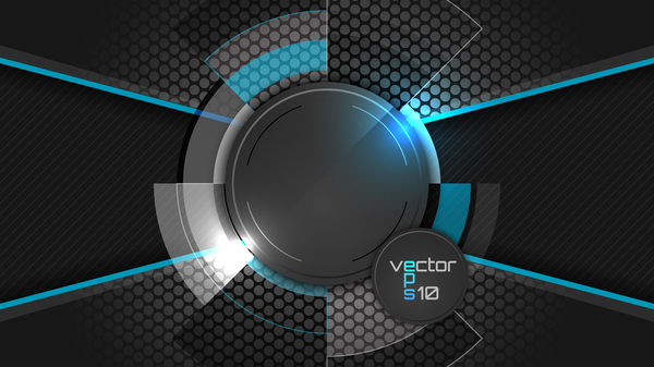 Blue with black tech background vectors - WeLoveSoLo